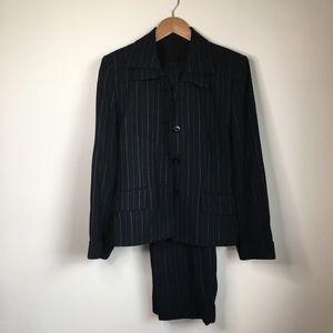 Kasper for ASL suit set jacket & pants striped